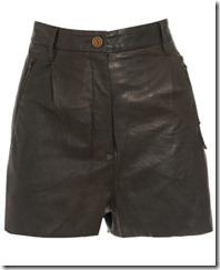 acne davi leather shorts