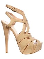 Alejandro Ingelmo 140MM PATENT OVERLAYED SUEDE CAGE SANDAL
