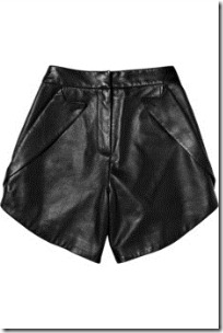 Alexander wang lapel-pocketed leather shorts