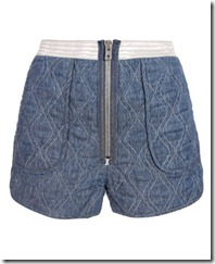 Alexander wang quilted denim style shors