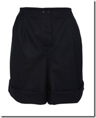 carven wool tailored shorts