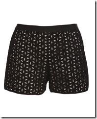 derek lam floral cut out shorts