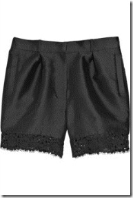 erdem pippa lace-trimmed satin twill shorts