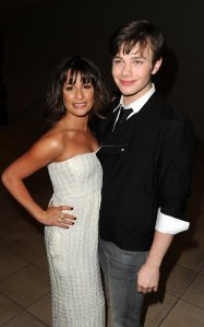 Lea Michele & Chris Colfer