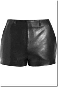 MAISON MARTIN MARGIELA leather high waisted shorts