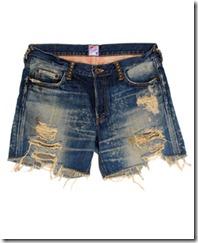 PRPS mini ripped shorts