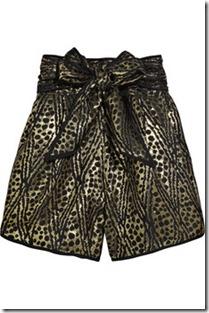thead social jacquard bow-belt shorts
