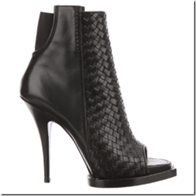 Givenchy woven peep-toe boots