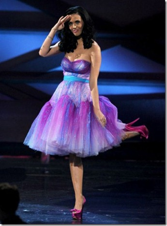 Katy Perry in Betsey Johnson's spring summer collection