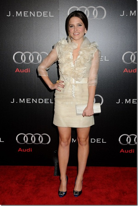 Sophia Bush J. Mendel Audi golden globes Kick off party january 9 red carpet